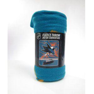 San Jose Sharks Soft Fleece Throw Blanket